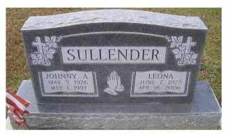 SULLENDER, JOHNNY A. - Adams County, Ohio | JOHNNY A. SULLENDER - Ohio Gravestone Photos
