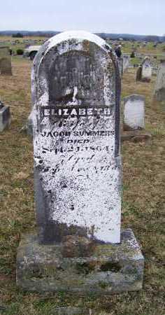 SUMMERS, ELIZABETH - Adams County, Ohio | ELIZABETH SUMMERS - Ohio Gravestone Photos
