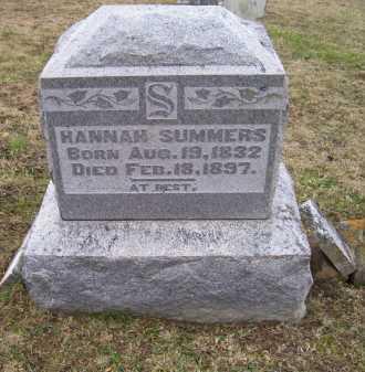 SUMMERS, HANNAH - Adams County, Ohio | HANNAH SUMMERS - Ohio Gravestone Photos
