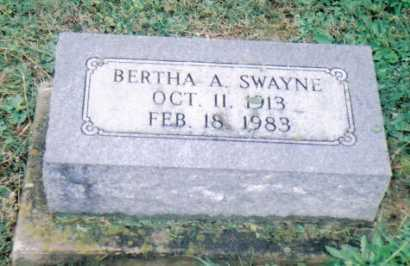 SWAYNE, BERTHA A. - Adams County, Ohio | BERTHA A. SWAYNE - Ohio Gravestone Photos