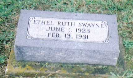 SWAYNE, ETHEL RUTH - Adams County, Ohio | ETHEL RUTH SWAYNE - Ohio Gravestone Photos