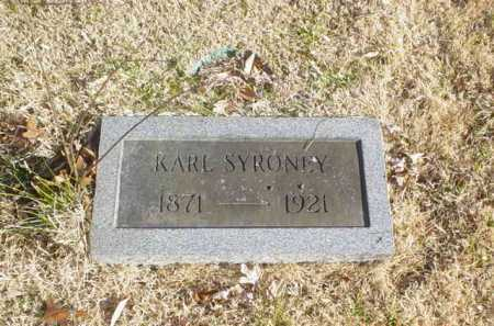 SYRONEY, KARL - Adams County, Ohio | KARL SYRONEY - Ohio Gravestone Photos
