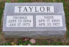 TAYLOR, THOMAS - Adams County, Ohio | THOMAS TAYLOR - Ohio Gravestone Photos