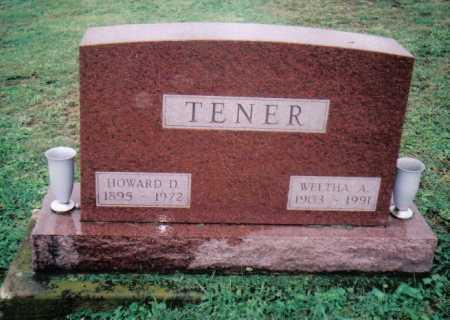 TENER, HOWARD D. - Adams County, Ohio | HOWARD D. TENER - Ohio Gravestone Photos