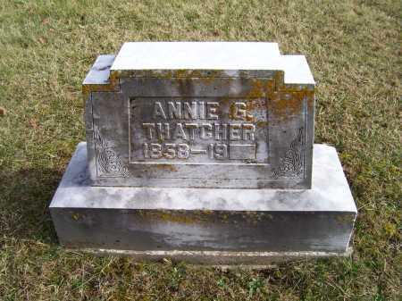 THATCHER, ANNIE G. - Adams County, Ohio   ANNIE G. THATCHER - Ohio Gravestone Photos