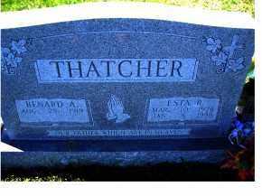 THATCHER, BENARD A. - Adams County, Ohio | BENARD A. THATCHER - Ohio Gravestone Photos