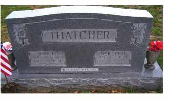 THATCHER, ROBY I. - Adams County, Ohio | ROBY I. THATCHER - Ohio Gravestone Photos