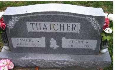 THATCHER, FLORA M. - Adams County, Ohio | FLORA M. THATCHER - Ohio Gravestone Photos