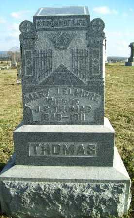 ELMORE THOMAS, MARY J. - Adams County, Ohio | MARY J. ELMORE THOMAS - Ohio Gravestone Photos