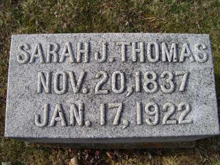 THOMAS, SARAH J. - Adams County, Ohio | SARAH J. THOMAS - Ohio Gravestone Photos