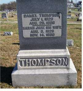 THOMPSON, DANIEL - Adams County, Ohio | DANIEL THOMPSON - Ohio Gravestone Photos
