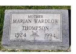 WARDLOW THOMPSON, MARIAN - Adams County, Ohio | MARIAN WARDLOW THOMPSON - Ohio Gravestone Photos