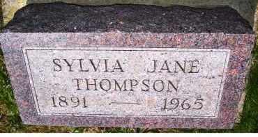 THOMPSON, SYLVIA JANE - Adams County, Ohio   SYLVIA JANE THOMPSON - Ohio Gravestone Photos