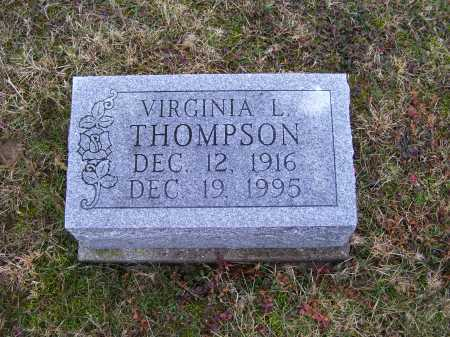 THOMPSON, VIRGINIA L. - Adams County, Ohio   VIRGINIA L. THOMPSON - Ohio Gravestone Photos