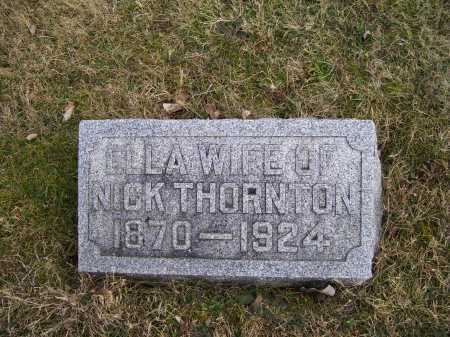 THORNTON, ELLA - Adams County, Ohio   ELLA THORNTON - Ohio Gravestone Photos