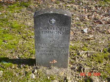 TIMMONS, CHARLES H. - Adams County, Ohio   CHARLES H. TIMMONS - Ohio Gravestone Photos