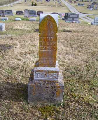 TOLER, ANNA - Adams County, Ohio | ANNA TOLER - Ohio Gravestone Photos