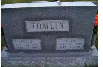 TOMLIN, ALVA - Adams County, Ohio | ALVA TOMLIN - Ohio Gravestone Photos