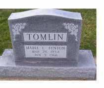 FENTON TOMLIN, MABEL L. - Adams County, Ohio | MABEL L. FENTON TOMLIN - Ohio Gravestone Photos