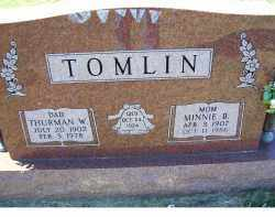 TOMLIN, THURMAN W. - Adams County, Ohio | THURMAN W. TOMLIN - Ohio Gravestone Photos