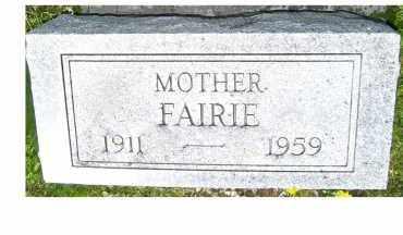 TONG, FAIRIE - Adams County, Ohio   FAIRIE TONG - Ohio Gravestone Photos