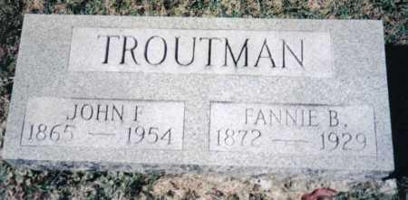 TROUTMAN, FANNIE B. - Adams County, Ohio | FANNIE B. TROUTMAN - Ohio Gravestone Photos