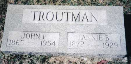 TROUTMAN, JOHN F. - Adams County, Ohio | JOHN F. TROUTMAN - Ohio Gravestone Photos