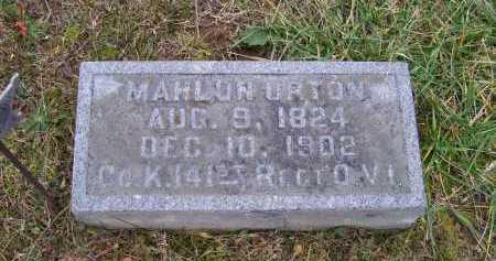URTON, MAHLON - Adams County, Ohio | MAHLON URTON - Ohio Gravestone Photos