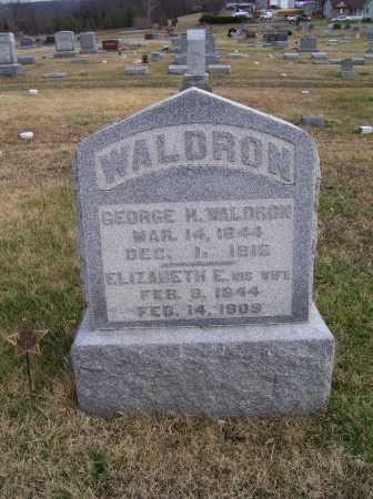 WALDRON, GEORGE H. - Adams County, Ohio   GEORGE H. WALDRON - Ohio Gravestone Photos