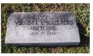WALLACE, VIRGINIA E. - Adams County, Ohio   VIRGINIA E. WALLACE - Ohio Gravestone Photos