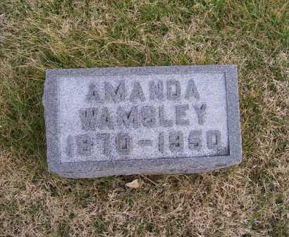 WAMSLEY, AMANDA - Adams County, Ohio   AMANDA WAMSLEY - Ohio Gravestone Photos
