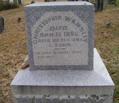 WAMSLEY, CHRISTOPHER - Adams County, Ohio | CHRISTOPHER WAMSLEY - Ohio Gravestone Photos