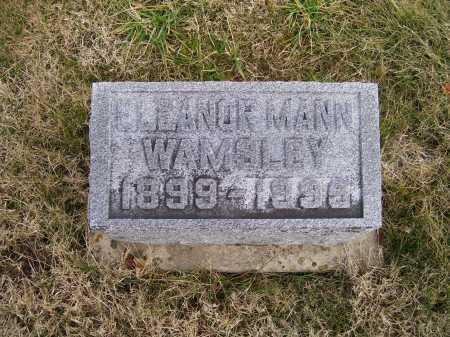 MANN WAMSLEY, ELEANOR - Adams County, Ohio | ELEANOR MANN WAMSLEY - Ohio Gravestone Photos