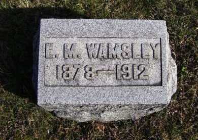 WAMSLEY, E. M. - Adams County, Ohio | E. M. WAMSLEY - Ohio Gravestone Photos