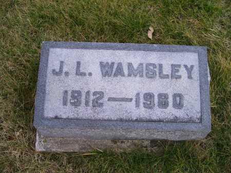WAMSLEY, J. L. - Adams County, Ohio | J. L. WAMSLEY - Ohio Gravestone Photos