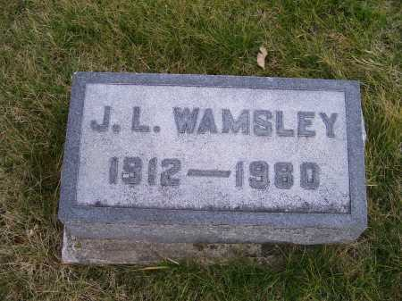 WAMSLEY, J. L. - Adams County, Ohio   J. L. WAMSLEY - Ohio Gravestone Photos