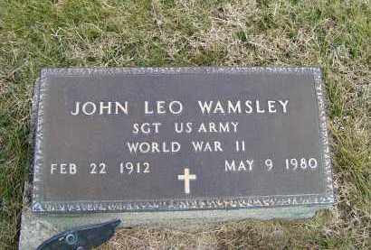 WAMSLEY, JOHN LEO - Adams County, Ohio | JOHN LEO WAMSLEY - Ohio Gravestone Photos