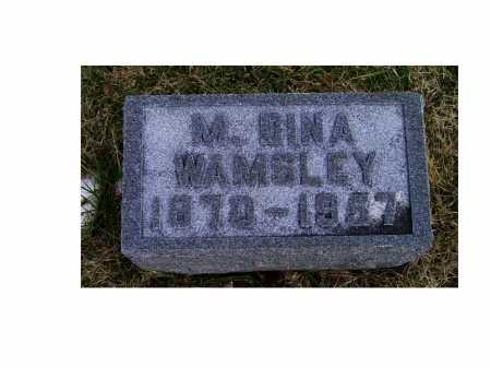WAMSLEY, M. BINA - Adams County, Ohio | M. BINA WAMSLEY - Ohio Gravestone Photos