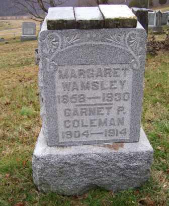 COLEMAN, GARNET P. - Adams County, Ohio   GARNET P. COLEMAN - Ohio Gravestone Photos