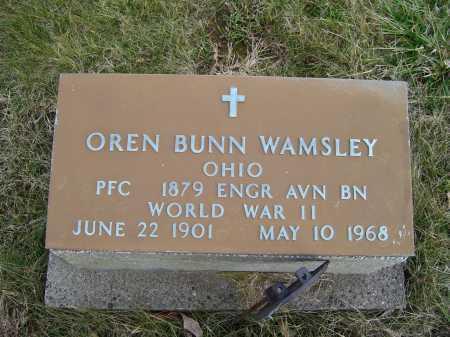 WAMSLEY, OREN BUNN - Adams County, Ohio | OREN BUNN WAMSLEY - Ohio Gravestone Photos