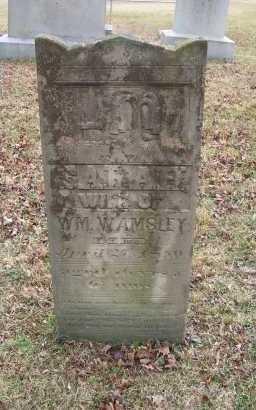 WAMSLEY, SARAH - Adams County, Ohio | SARAH WAMSLEY - Ohio Gravestone Photos