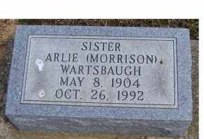 WARTSBAUGH, ARLIE - Adams County, Ohio | ARLIE WARTSBAUGH - Ohio Gravestone Photos