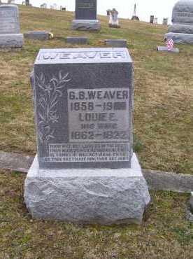 WEAVER, G. B. - Adams County, Ohio   G. B. WEAVER - Ohio Gravestone Photos