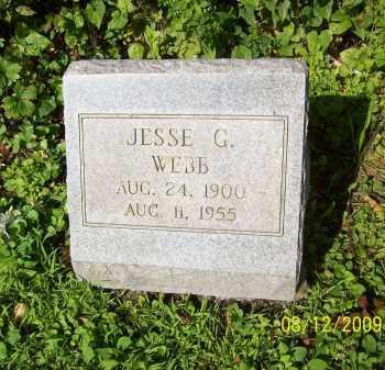 WEBB, JESSE G - Adams County, Ohio   JESSE G WEBB - Ohio Gravestone Photos