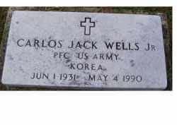 WELLS, CARLOS JACK JR - Adams County, Ohio | CARLOS JACK JR WELLS - Ohio Gravestone Photos