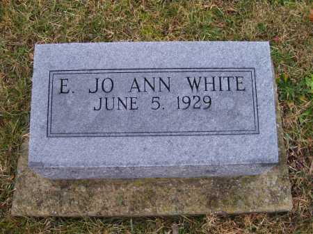 WHITE, E. JO ANN - Adams County, Ohio | E. JO ANN WHITE - Ohio Gravestone Photos