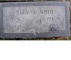 WHITE, SARA A. - Adams County, Ohio   SARA A. WHITE - Ohio Gravestone Photos