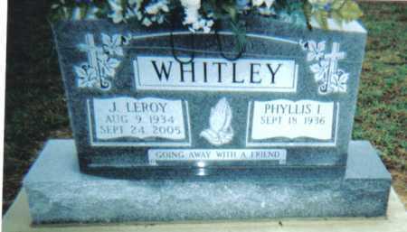 WHITLEY, J. LEROY - Adams County, Ohio | J. LEROY WHITLEY - Ohio Gravestone Photos