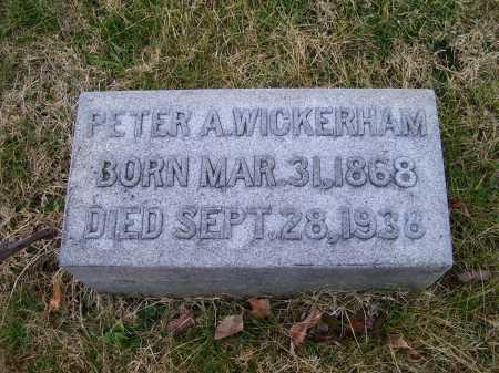 WICKERHAM, PETER A. - Adams County, Ohio   PETER A. WICKERHAM - Ohio Gravestone Photos