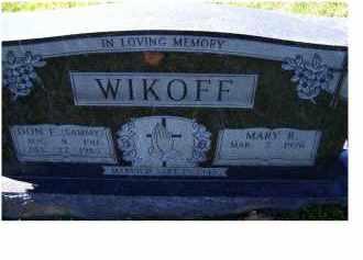 WIKOFF, DON E. (SAMMY) - Adams County, Ohio   DON E. (SAMMY) WIKOFF - Ohio Gravestone Photos